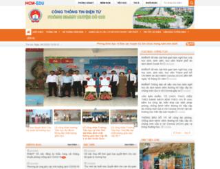 pgdcuchi.hcm.edu.vn screenshot