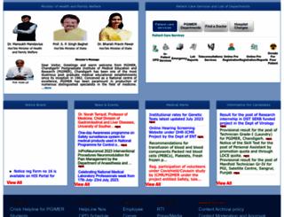 pgimer.edu.in screenshot