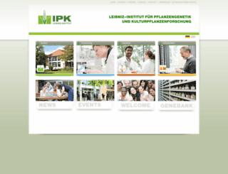 pgrc.ipk-gatersleben.de screenshot