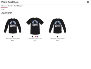 phans.spreadshirt.dk screenshot