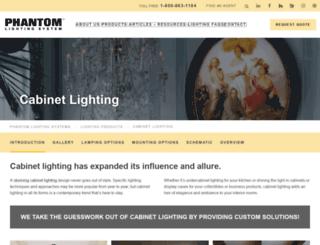phantomcabinetlighting.com screenshot