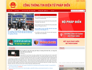 phapdien.moj.gov.vn screenshot