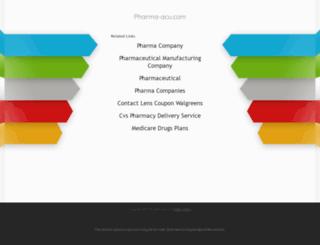 pharma-acu.com screenshot