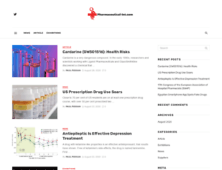 pharmaceutical-int.com screenshot