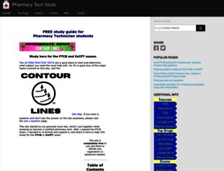 pharmacy-tech-study.com screenshot