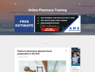 pharmacy-training.blogspot.com screenshot