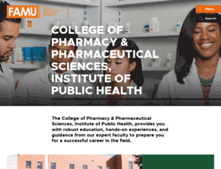 pharmacy.famu.edu screenshot
