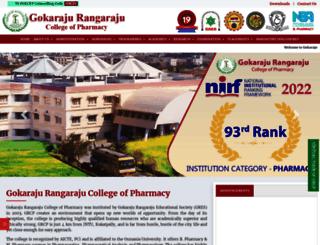 pharmacy.gokaraju.org screenshot