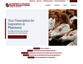 pharmacy.ouhsc.edu screenshot