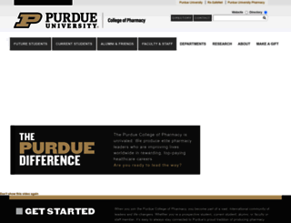 pharmacy.purdue.edu screenshot