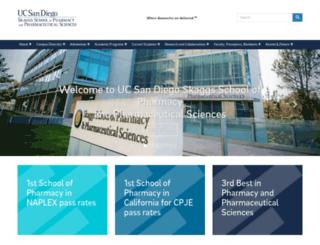 pharmacy.ucsd.edu screenshot