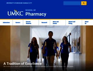 pharmacy.umkc.edu screenshot