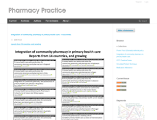pharmacypractice.org screenshot