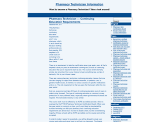 pharmacytechnicianblog.com screenshot
