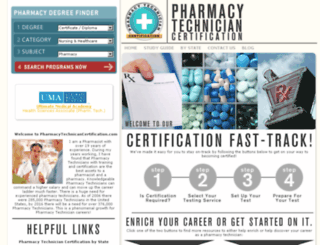 pharmacytechniciancertification.com screenshot