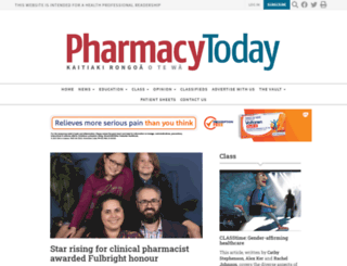 pharmacytoday.co.nz screenshot