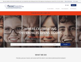 pharmadiversityjobboard.com screenshot