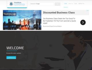 pharmafoundation.com screenshot