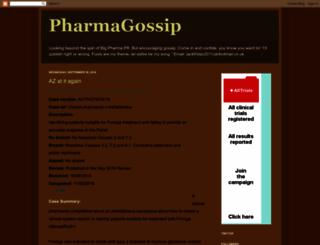 pharmagossip.blogspot.com screenshot