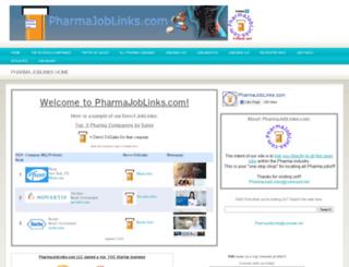 pharmajoblinks.com screenshot