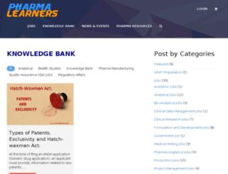 pharmalearners.com screenshot
