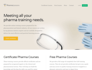 pharmalessons.com screenshot