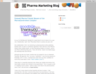 pharmamkting.blogspot.com screenshot