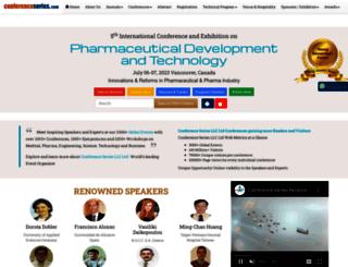 pharmatech.pharmaceuticalconferences.com screenshot