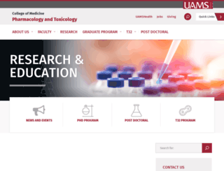 pharmtox.uams.edu screenshot