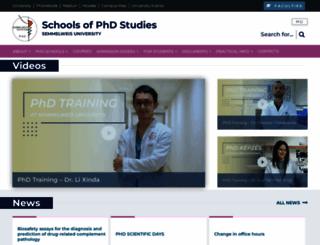phd.sote.hu screenshot