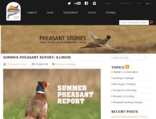 pheasantblog.org screenshot