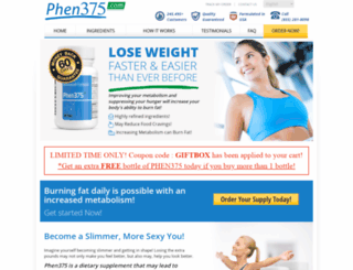 phen375.com screenshot