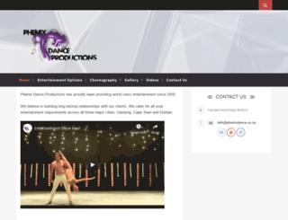 phenixdance.co.za screenshot