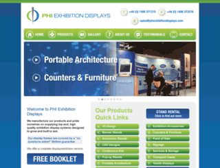 phiexhibitiondisplays.com screenshot