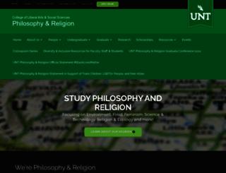phil.unt.edu screenshot