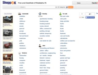 philadelphia.shoppok.com screenshot