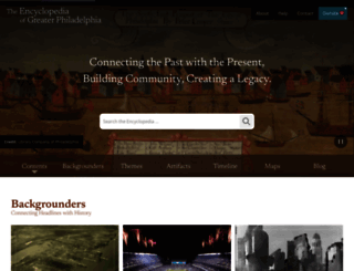 philadelphiaencyclopedia.org screenshot