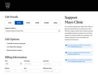 philanthropy.mayoclinic.org screenshot