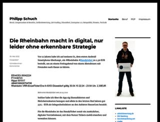 philipp-schuch.de screenshot
