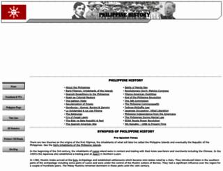 philippine-history.org screenshot