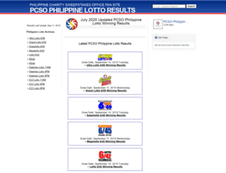 philippine-lotto-results.com screenshot
