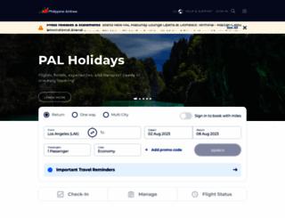 philippineairlines.com screenshot