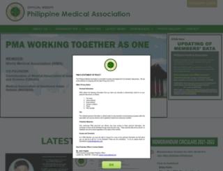 philippinemedicalassociation.org screenshot