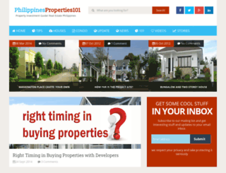philippineproperties101.com screenshot