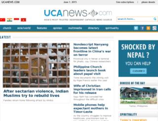 philippines.ucanews.com screenshot