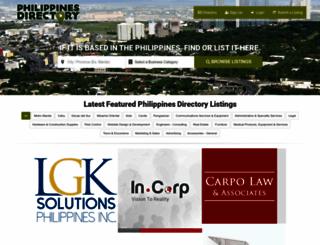 philippinesdirectory.net screenshot