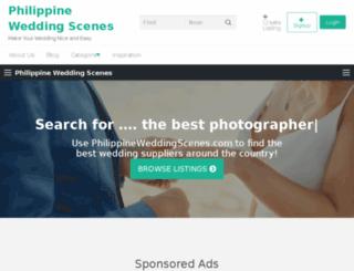 philippineweddingscenes.com screenshot