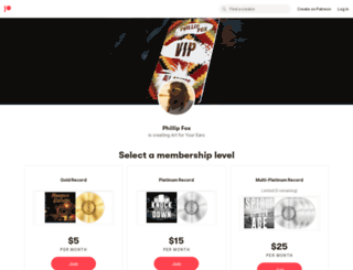 phillipfoxband.com screenshot