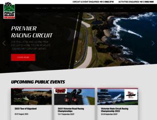 phillipislandcircuit.com.au screenshot