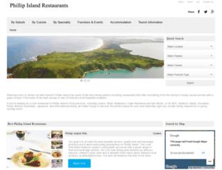 phillipislandrestaurants.com.au screenshot